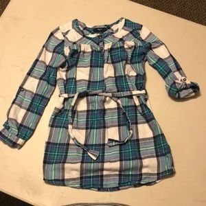Gapkids size small (6-7), belted flannel tunic.